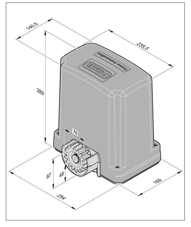 Габаритные размеры привода SOMMER STArter