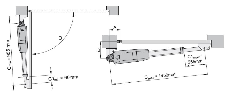 Установочные размеры привода SOMMER Twist 350